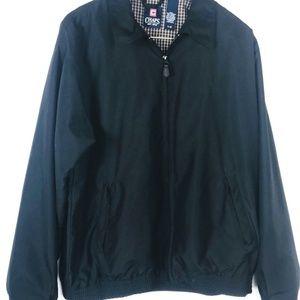 Chaps Ralph Lauren Black Bomber Jacket Flight Coat